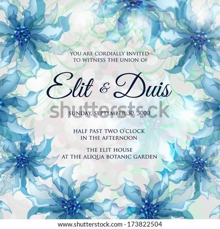 Wedding invitation card - stock vector