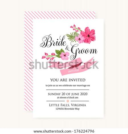 Wedding invitation card stock vector 176224796 shutterstock wedding invitation card stopboris Images