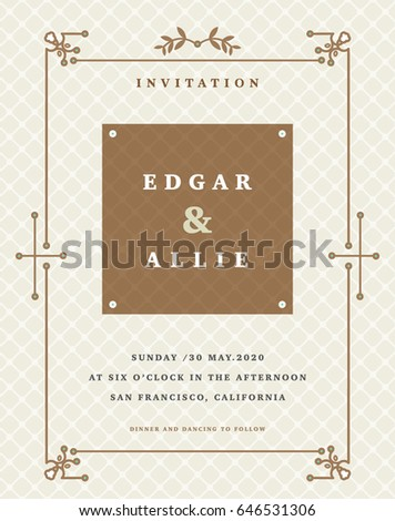 Wedding invitation card design layout stock vector royalty free wedding invitation card design and layout stopboris Images