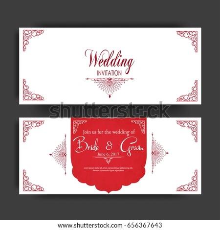 Wedding invitation card muslim community stock vector 2018 wedding invitation card for muslim community stopboris Choice Image