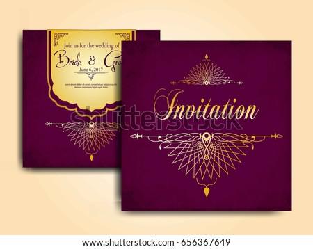 Wedding invitation card muslim community stock vector 656367649 wedding invitation card for muslim community stopboris Choice Image