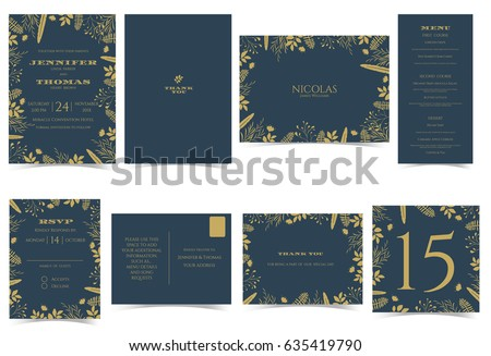Wedding invitation card formal style bridal stock vector 635419790 wedding invitation card formal style bridal shower card rsvp card thank you sticker stopboris Image collections