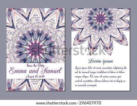 Wedding invitation card.  Ideal for Save The Date, baby shower, mothers day, valentines day, birthday cards, invitations. Vector illustration vintage design. - stock vector