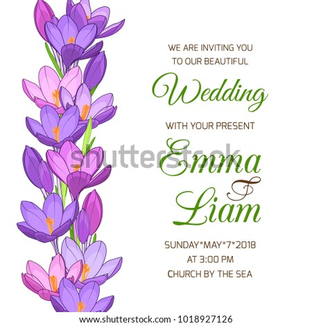 Wedding Invitation Card Template Marriage Event Stock Vector ...