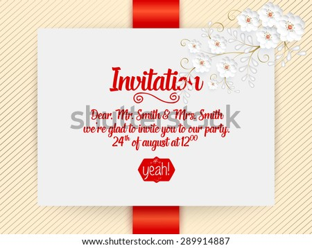 Invitation card design stock images royalty free images vectors wedding invitation card vector invitation card with abstract background and elegant frame with text decorated stopboris Choice Image