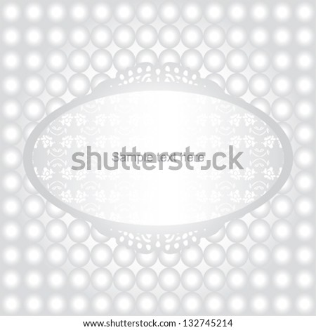 wedding invitation card with pearls - stock vector