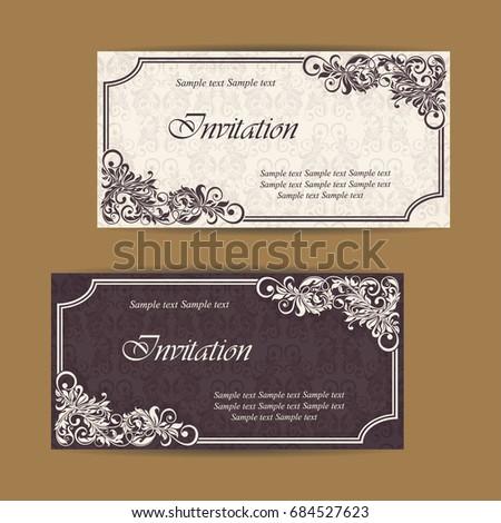 Wedding invitation card vintage floral background stock vector 2018 wedding invitation card with vintage floral background vector illustration stopboris Choice Image