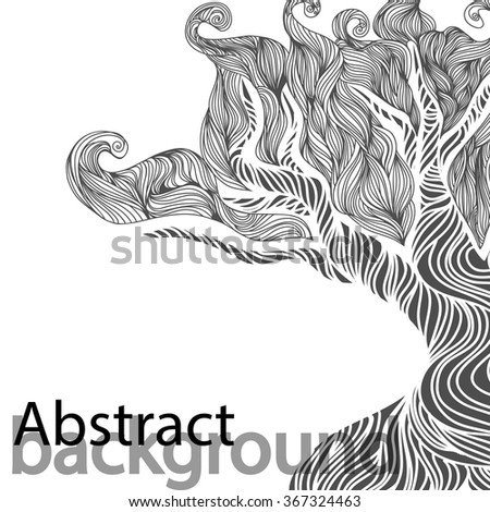 Wedding invitation cards with abstract waves. (Use for Boarding Pass, invitations, thank you card.) Vector illustration.