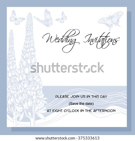 wedding invitation, decorated with 