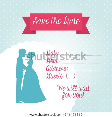 Wedding Invitation Design Vector Illustration Eps10 Graphic