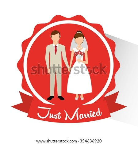 wedding invitation design, vector illustration eps10 graphic