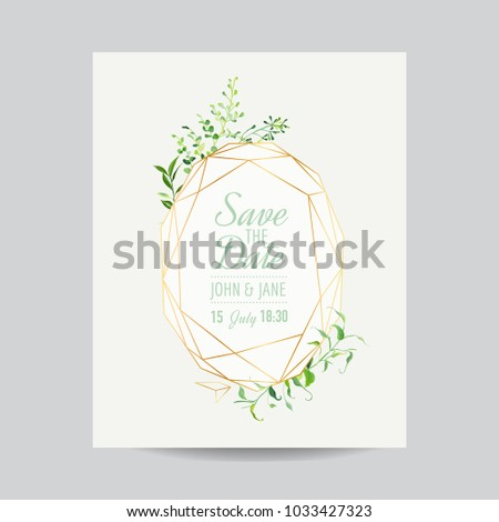 Wedding Invitation Floral Template Save Date Stock Vector - Save the date text template