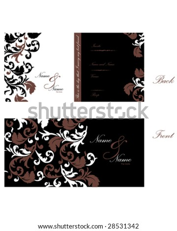 Wedding Invitation o