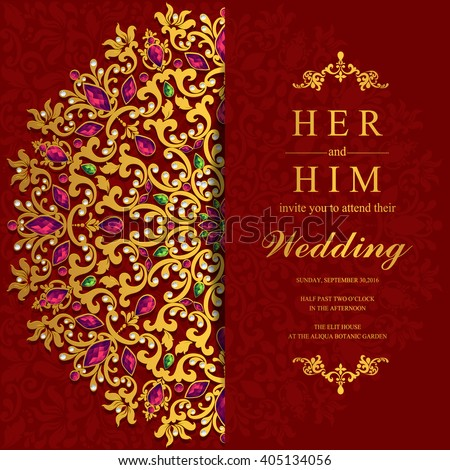 Wedding invitation card abstract background islam stock vector hd wedding invitation or card with abstract background islam arabic indian dubai stopboris Gallery