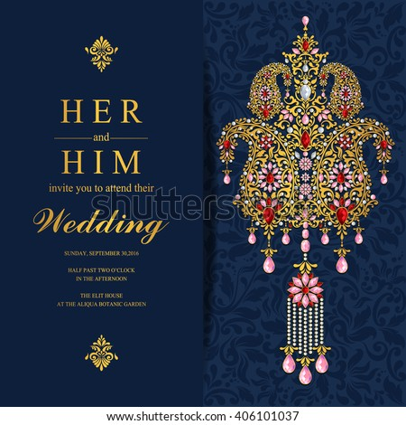 Indian Wedding Card Stock Images Royalty Free Images