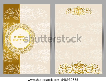 Vetor stock de wedding invitation card abstract background islam wedding invitation or card with abstract background islam arabic indian dubai stopboris Images
