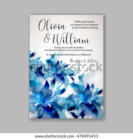 Wedding Invitation Background Blue Maco Ibaldo Co