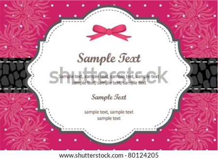 Wedding Invitation Panel - use for invitation for weddings, showers, parties... - stock vector