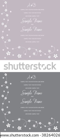 Wedding Invitation Panels - stock vector