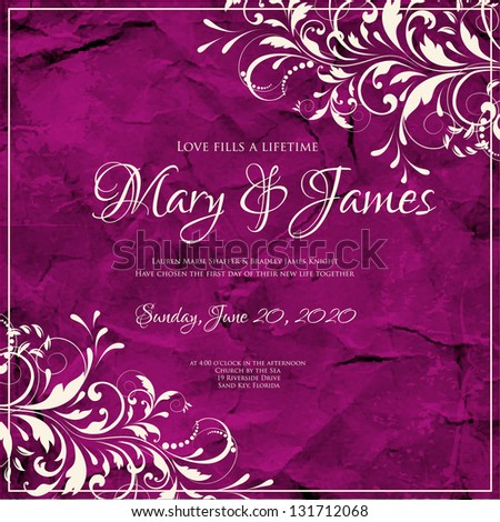 Wedding invitation printable invitation