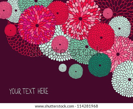 Wedding invitation. Stylish floral background. - stock vector