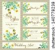 Wedding invitation template in vector. - stock vector