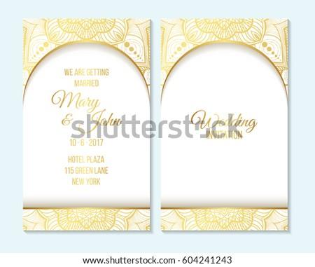 Wedding Invitation Thank You Card Save Vector 604241243 – Thank You Cards Wedding Template