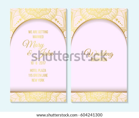 Wedding invitation thank you card save stock photo photo vector wedding invitation thank you card save the date baby shower cards wedding maxwellsz