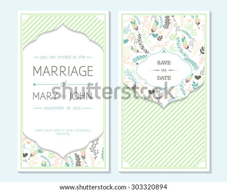 Wedding invitation, thank you card, save the date cards. Wedding invitation.