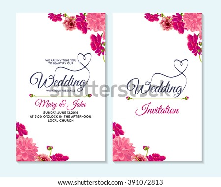 Wedding invitation thank you card save stock vector 391072813 wedding invitation thank you card save the date cards wedding invitation baby stopboris