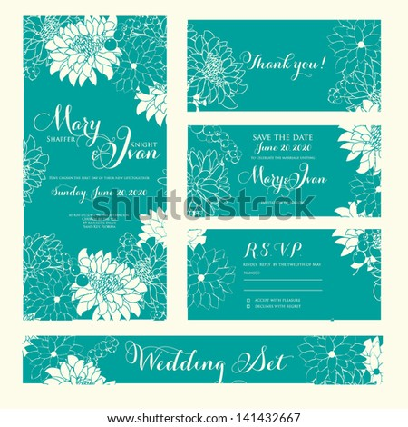 you card save the date cards wedding set rsvp card wedding invitation