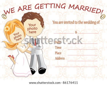 Wedding invitation vector - stock vector