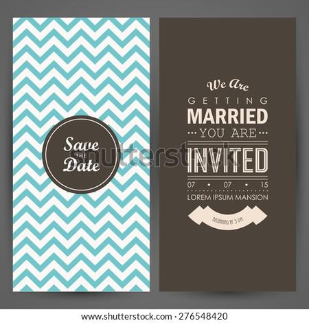 Wedding invitation. Vector illustration - stock vector