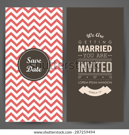 Wedding invitation. Vector illustration - stock vector