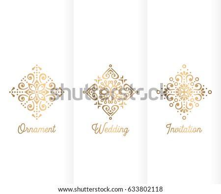 Wedding invitation vintage decorative elements ornamental stock wedding invitation vintage decorative elements ornamental floral business cards oriental pattern vector junglespirit Image collections
