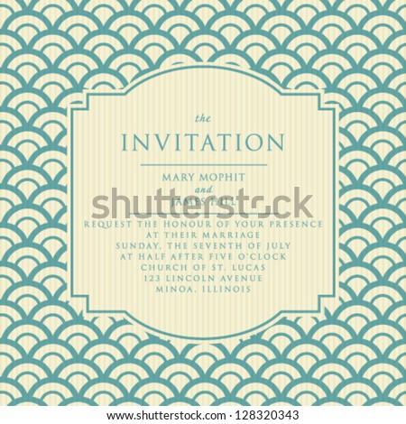 Wedding invitations and announcements. Vintage elegant invitation