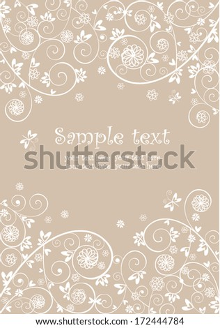 Wedding lacy invitation - stock vector