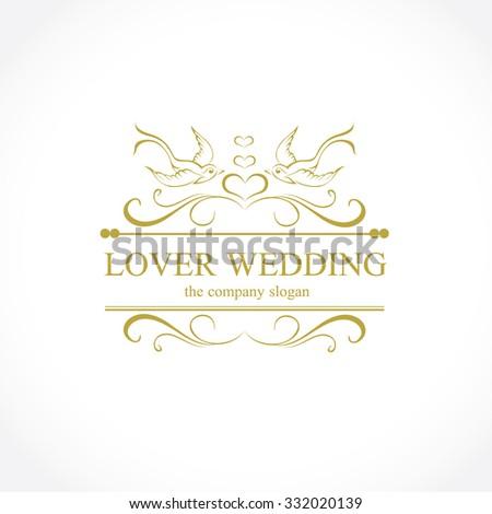 Wedding Logo Stock Vector Shutterstock