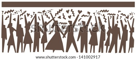 wedding people - abstract illustration