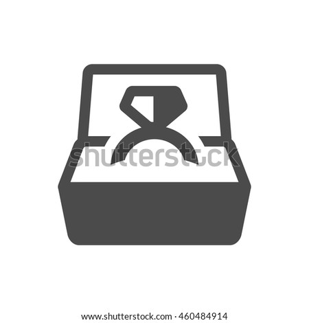 Wedding ring icons in single color. - stock vector