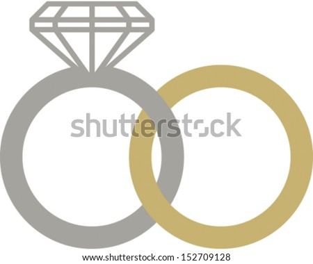 Wedding Rings Logo Wedding Rings Stock Vector