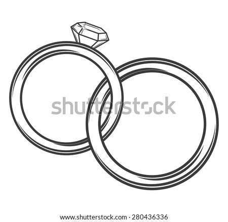 Wedding Rings Stock Vector 280436336