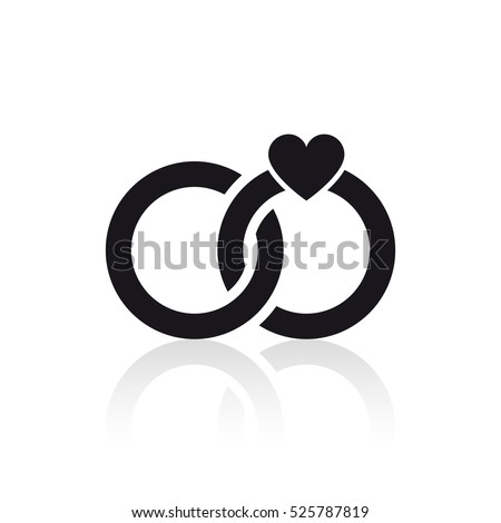 Wedding Rings Icon Stock Vector HD Royalty Free 525787819