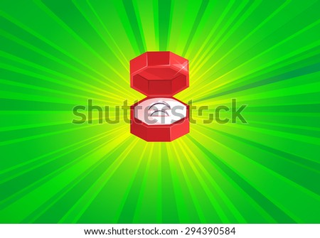 Wedding Rings - Shinning Bright (Vector Elements Pack) - stock vector