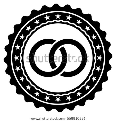 Wedding Rings Stamp Vector Icon Flat Stock Vector 558810856