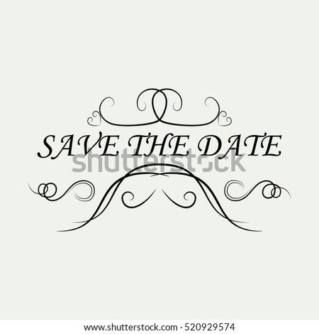 Calligraphic design elements page decoration wedding stock vector weddingsave the dateornamental decorative elementsctor illustrationntage and filigree junglespirit Image collections