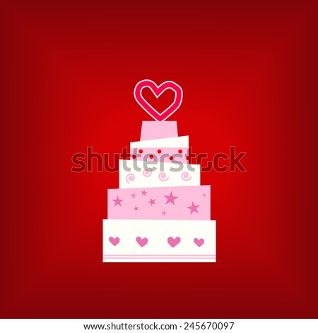 Wedding strawberry pink cake, birthday cake, gift card