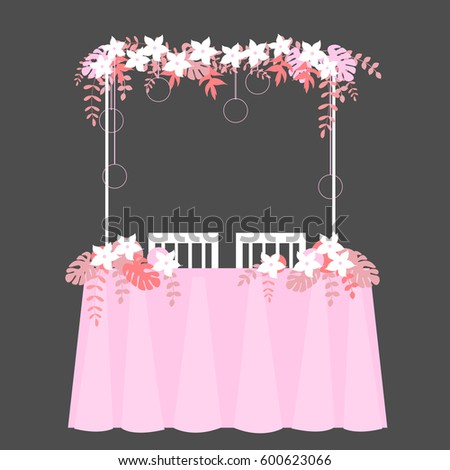 Wedding table decoration vector illustration stock vector hd wedding table decoration vector illustration junglespirit Images