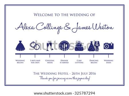 wedding timeline background - stock vector