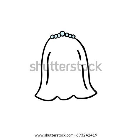 wedding veil doodle icon stock vector 693242419 shutterstock rh shutterstock com wedding veil clips wedding veil clips